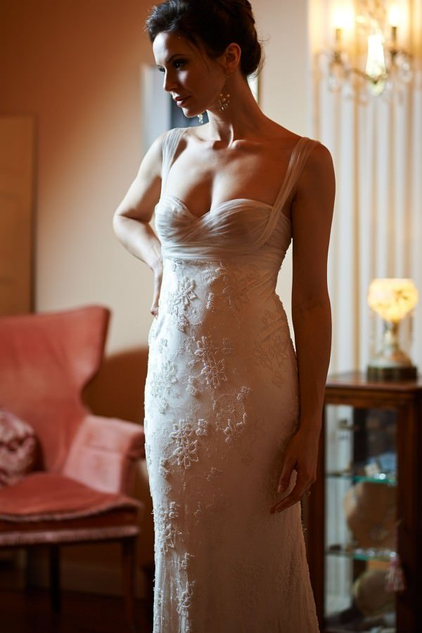 As with all couture pieces, this dress was fit to perfection for the bride.