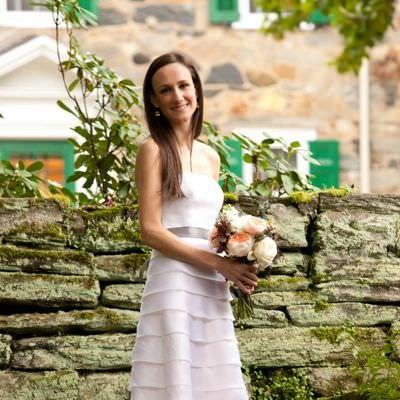 Tiered Strapless Wedding Dress