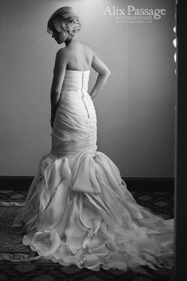 The couture process allows for exceptional quality and detailing as shown here.
