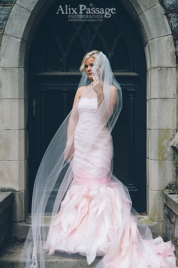 Katelyn is a vision on the day of her wedding at the historic Laurel Hill Cemetary.