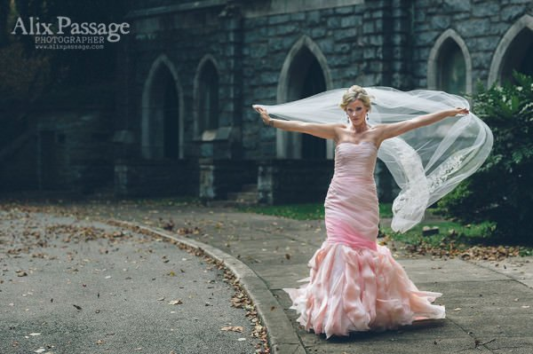 Bride Katelyn wanted a unique, out-of-the-box gown.