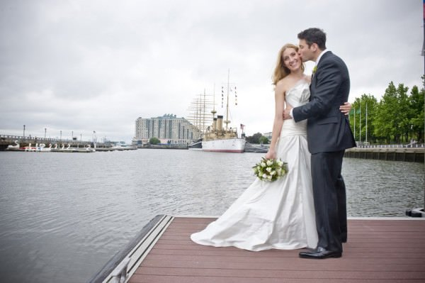 Faye and Matthew were the winners of a dream wedding contest in Philadelphia.