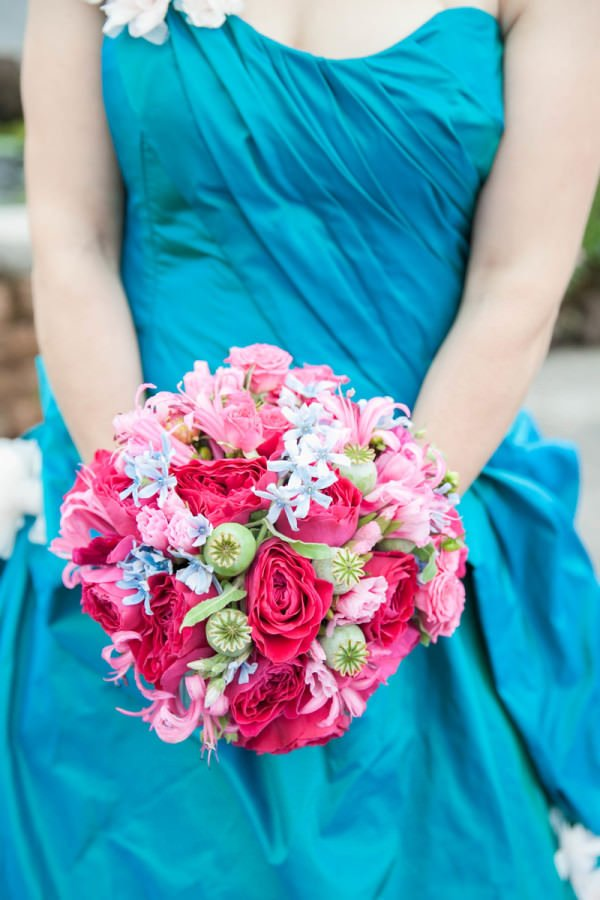 Lavinia was a bride who was not afraid of color and her bold color palette exemplified her personality.