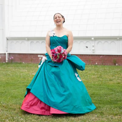 Teal Wedding Gown