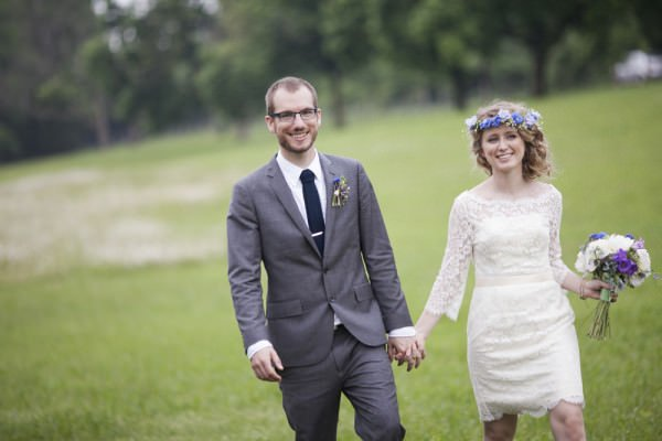 Eleanor and Drew were married at Durham Creek Tree Farm.