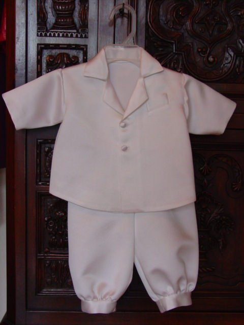 Christening gowns and suits can easily be fit to babies of all sizes using three measurements—allowing Janice to work with clients across the country.