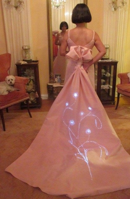 Janice Martin Couture and Lee Wainwright design an interactive wedding gown